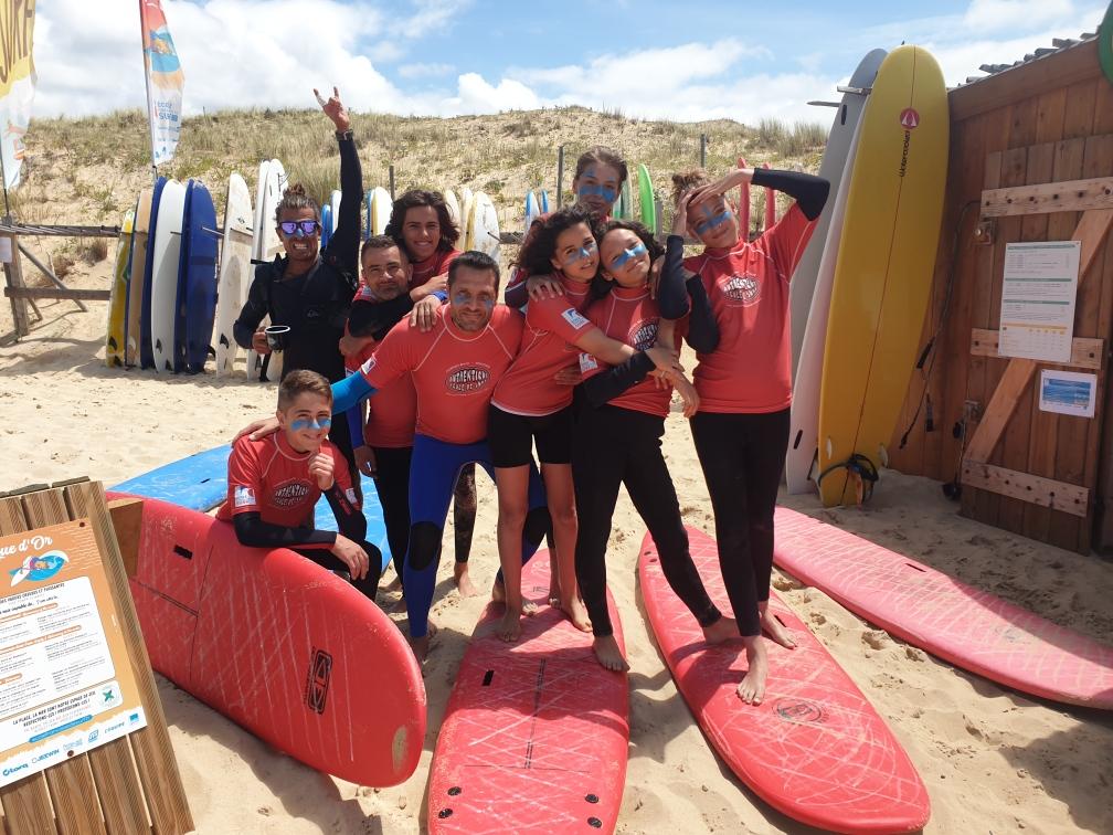 élèves surfeur authentique école de surf